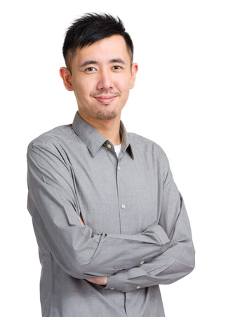 Asian man portrait photo