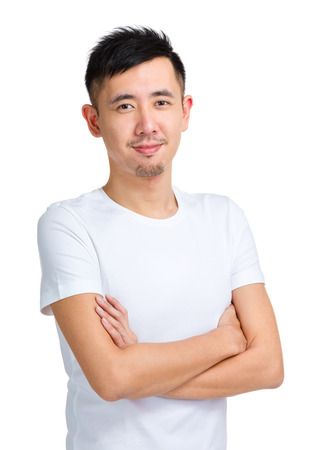 Asian man in casual photo
