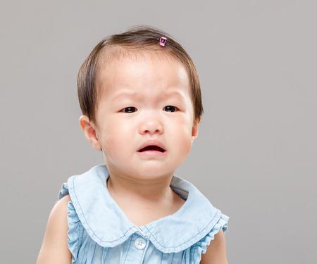 Crying baby girl photo