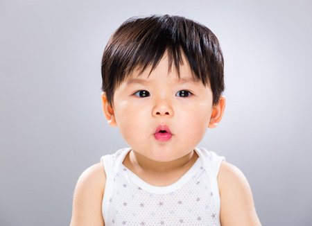pout: Asian baby boy pout lip