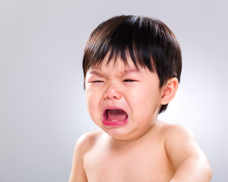 Crying baby boy photo