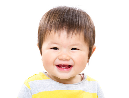 Beautiful smiling asian baby photo