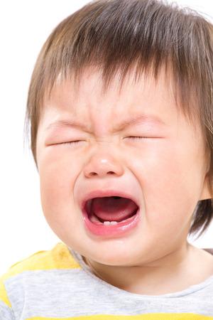 Baby girl crying photo