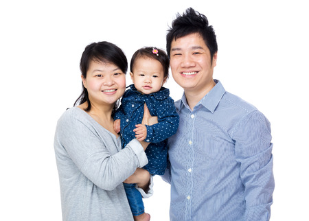 Asia happy family photo