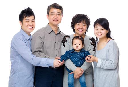 Happy asia family with three generation photo