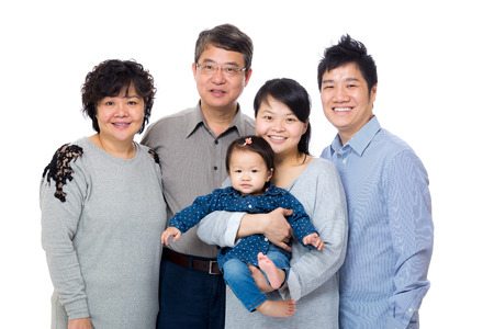 generation: Happy three generation asian family