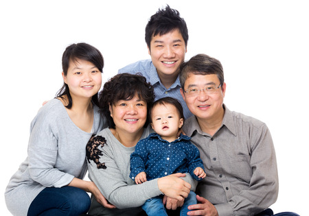 Asian family  photo