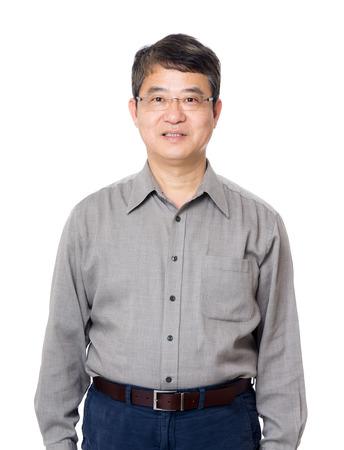 man face: Asia oude man Stockfoto