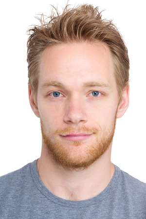 Caucasian man headshot photo
