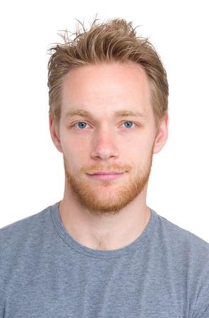 Blonde man portrait photo