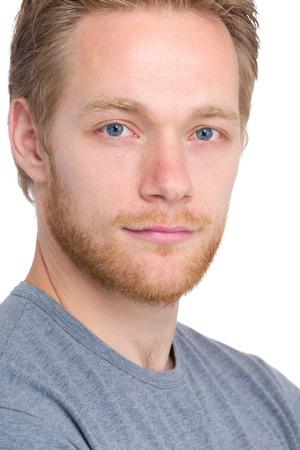 Handsome blonde man portrait