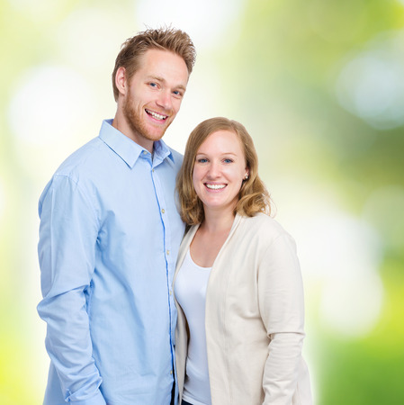 Young blonde couple photo