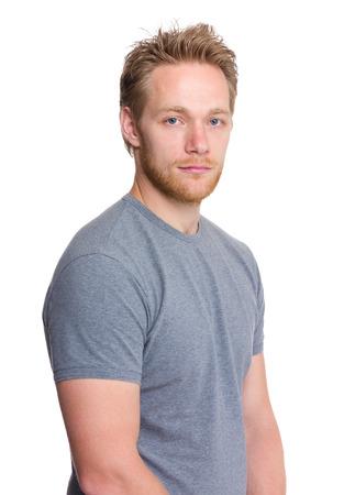 Young caucasian man photo
