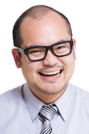 Asia business man smile Stock Photo