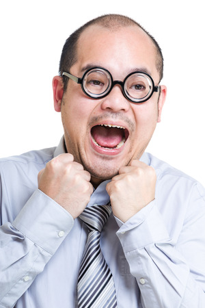 suffocate: Business man suffocate Stock Photo