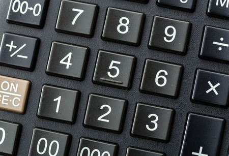 Black calculator photo