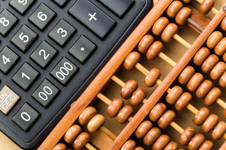 decimal: Modern calculator and abacus