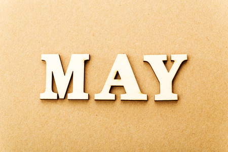 Wooden text for May photo
