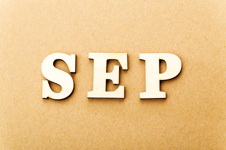Wooden text for september photo