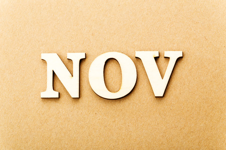 Wooden text for November photo