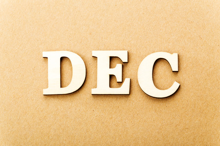 Wooden text for December photo