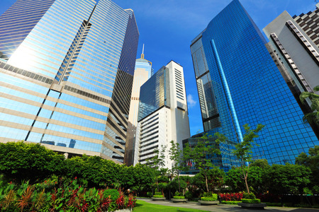 megalopolis: Business district in Hong Kong