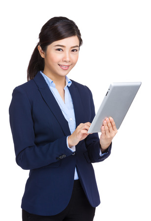 Business woman with tablet photo