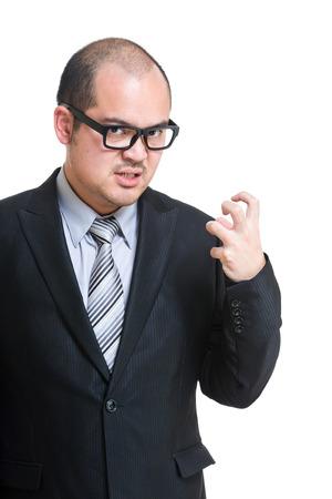 bald man: Jefe enojarse