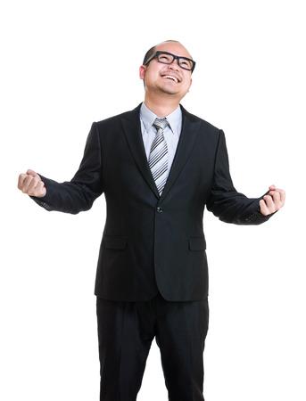 Excite businessman photo