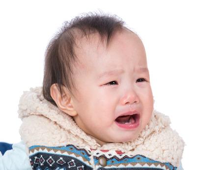 Asia baby crying photo