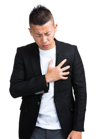Businessman strong heart attack photo