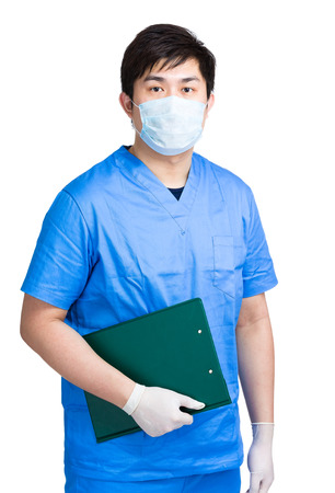 Medical doctor hold clipboard photo