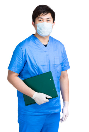 Doctor with clipboard photo