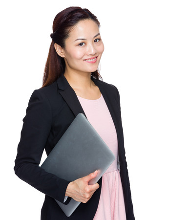 Business woman with laptop Stock Photo - 29406683