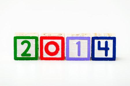 Wooden block for year 2014 photo