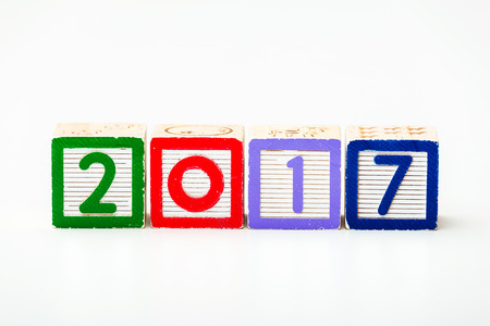 Wooden block for year 2017 photo