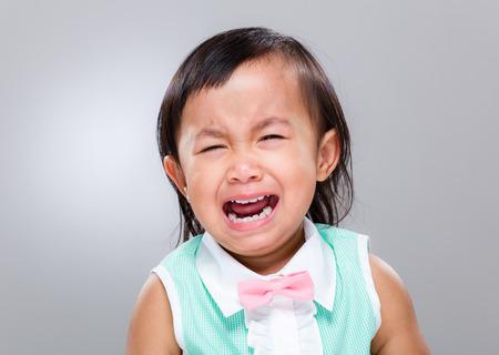 Little girl cry photo