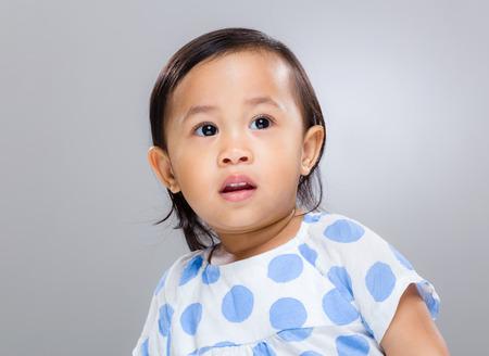 Baby girl shock photo