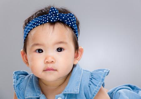 Baby girl close up photo