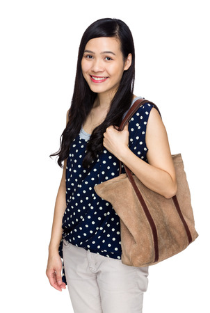 tote: Woman with tote bag