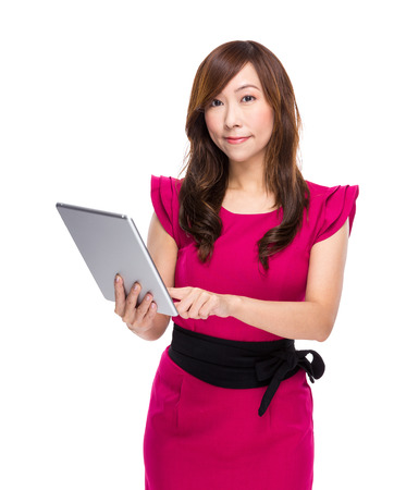 Woman use digital tablet photo