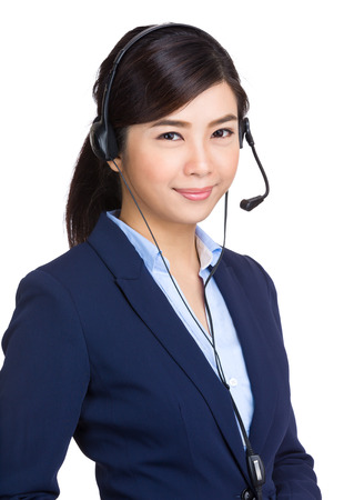 center agent: Customer service operator  Stock Photo