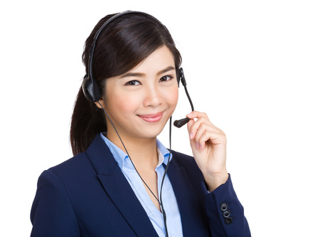 business services: Customer service operator Stock Photo