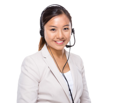 Asian customer service assistant photo