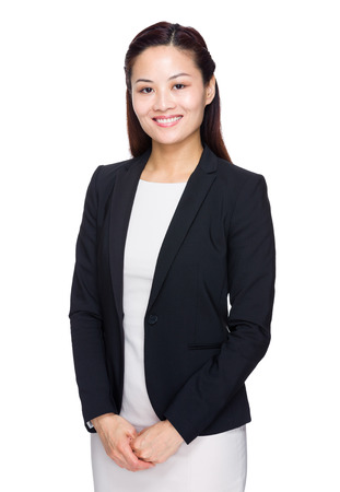 Smiling business woman photo