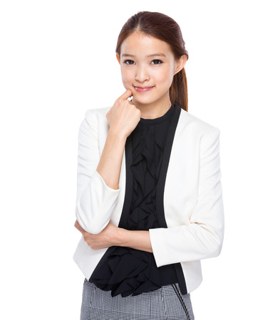 Pretty young businesswoman photo