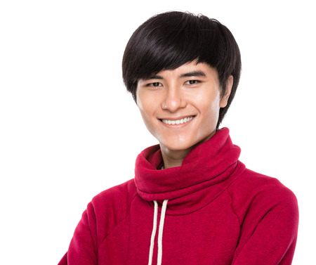 Young man smile photo