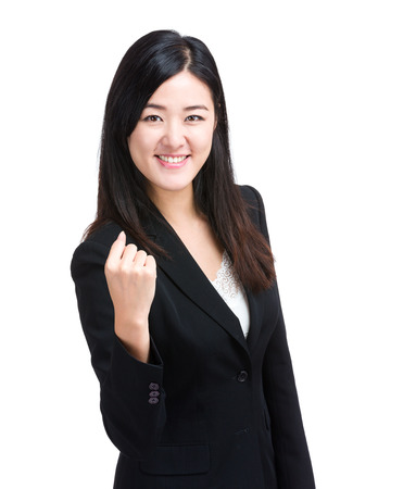 Cheer up business woman photo