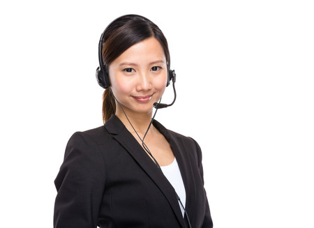 Call centre operator photo