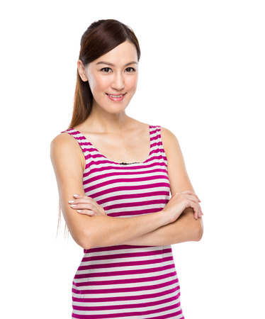 Asian Woman with casual wear photo